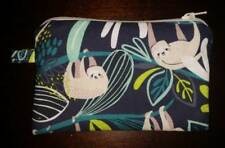 SLOTH zipped pouch coin purse RAIN FOREST free postage