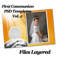 Photoshop templates for First Communion Frames  Vol 2