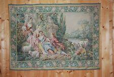 Tapisserie murale, tenture romantique. Les tissages La Filandière. 160x116cm.
