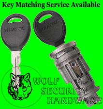 Chrysler Jeep Strattec Ignition Key Switch Lock Cylinder Tumbler 2 REGULAR Keys