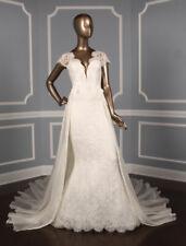 BRAND NEW Pronovias Atelier Ritmo Lace Wedding Dress Detachable Train 10 $11,960