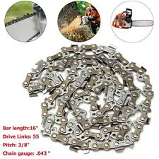 16'' Chainsaw Saw Chain Blade 3/8LP .043 55DL For 009 011 017 018 020T MS170/180
