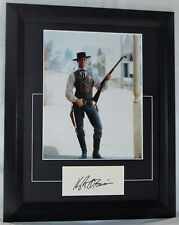 HUGH O'BRIAN SIGNED FRAMED WYATT EARP  MATTED SIGNED CARD WITH PHOTO #HOBWE2