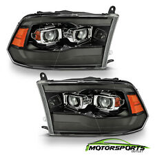 For 2009-2018 Dodge Ram Smoke Black Switchback Projector Headlights w/ LED DRL