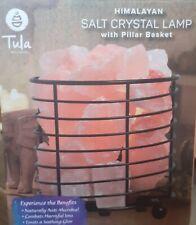 Himalayan Salt Crystal lamp with pillar basket