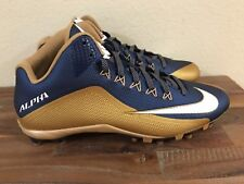 Nike Alpha Pro II 3/4 Mid TD Football Cleats Gold/White/Navy 729444-426 Sz 13