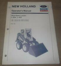 New Holland L454 L455 Skid Steer Loader Operation Maintenance Manual Book