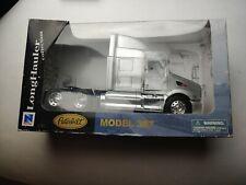 New Ray Peterbilt LongHauler Collection Silver MODEL 387 NO. 52983 ROUGH BOX