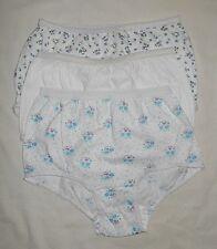 Girls Vintage Green Blue White 3 Cotton Briefs Panties Underwear Sz 7/8 HTF