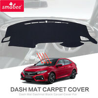 Dash Mat Dashmat Black Carpet Cover  For HONDA CIVIC 2015-2017 Insulation mat