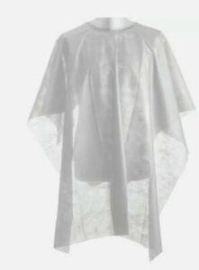 250 mantelle monouso TNT da taglio bianca per parrucchieri . 130 cm x 105