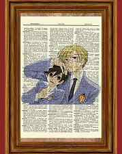 Ouran High School Host Club Dictionary Art Print Poster Anime Haruhi and Tamaki