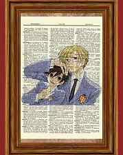 Ouran High School Host Club Dictionary Art Print Poster Anime Haruhi and Tamaki