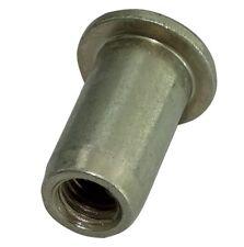 5x inserts à sertir acier zingué M6 L16.5mm Ф9.1mm écrou rivet