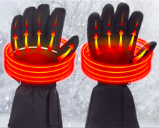 Electric Rechargeable Battery Powered Touchscreen Winter Hand Warm Heated Gloves