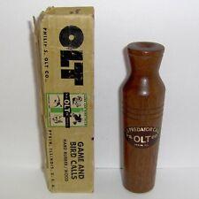 "Vintage P. S. Olt ""Predator"" Call No. 33 in Box ~ Pekin, Ill. >> Ex+"
