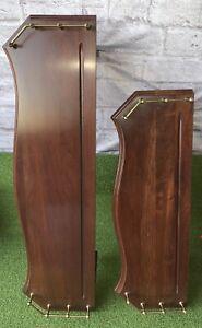 ETHAN ALLEN 2 HEIRLOOM Signed VTG MID CEN MOD Rich MAPLE Wood Wall Display Shelf