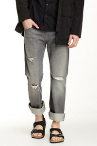 "7 For All Mankind Men's Axiom Grey Brett Modern Bootcut ""A"" Pocket Jeans *SK"