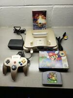 Gold Nintendo 64 N64 console Bundle Super Mario 64 Complete CIB UPGRADED CONSOLE