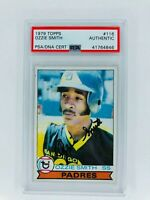 1979 Topps #116 Ozzie Smith Authentic Auto (Rookie RC) San Diego Padres
