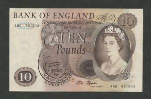 BANK OF ENGLAND  QEII  Fforde  £10  1967  B316  Uncirculated   Banknotes