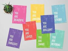 You Are Mini Collection, Colorful Wall Decor, Motivational Quotes, Positive Quot