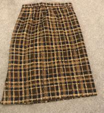 Women's Vintage Patterned Woollen Skirt Size 10/12