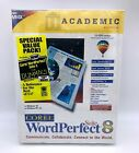 Corel WordPerfect 8 Suite w/ For Dummies Book - Academic - CDROM - New Old Stock