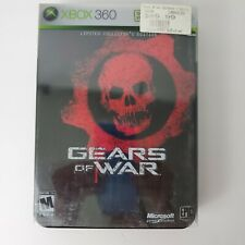 Xbox Gears of War Limited Collector's Edition Steel Box Xbox 360 Manual Book 17+