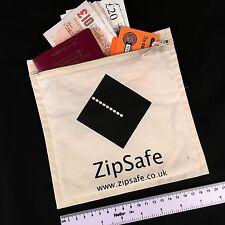 Travel wallet Zip up Soft Cotton money bag security passport pouch documents