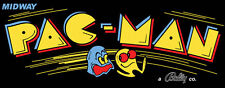 Pacman Black Reproduction Arcade Marquee Header