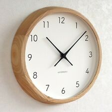 Modern Wall Clock Decor Wooden Minimalist
