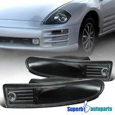 For 2000 2002 Mitsubishi 00 02 Eclipse Black Bumper Signal Lights Leftright Fits 2002 Mitsubishi Eclipse