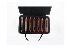 EASTTOP10hole blues harps harmonica set T008K-7 ,7keys mouth organ in one case