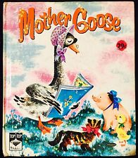 Mother Goose Nursery Rhymes ~Vintage 1960's Children's Whitman Top Top Tale Book