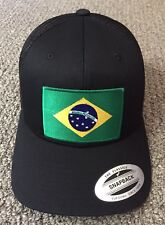 BRAZIL Flag Hat Brazilian National Flag SnapBack Trucker Mesh Baseball Cap