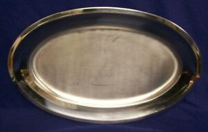 Serving Ware WMF EXTRA LARGE OBLONG SERVING TRAY STAINLESS STEEL SILVER