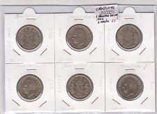 6 MONEDAS DE 100 PESETAS AÑO 1982 ( 3 lis cruz / 3 lis cara )     ( MB9893 )