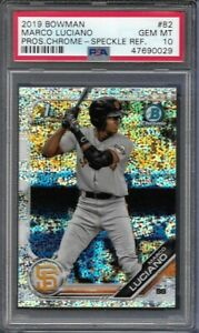 2019 Bowman Chrome Marco Luciano Prospect SPECKLE Refractor 63/299 PSA 10 !!!