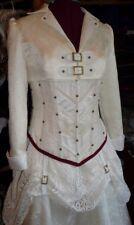 Designer bespoke steampunk vintage victorian ivory wedding dress NEW CORSET
