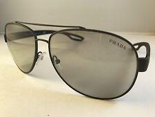 New Authentic PRADA Sport sunglasses SPS 55Q TIG 2B0 gray mirror w case aviator