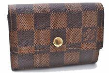 Authentic Louis Vuitton Damier Porte Monnaie Plat Coin Case N61930 LV 0311A