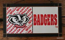 New University Wisconsin College Licensed Wood Plaque Sign Badgers Dorm Decor