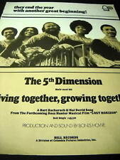 5th Dimension 1972 Promo Poster Ad A Great Beginning
