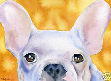 French Bulldog Dog Painting 8 x 10 Art Print Signed by Artist Djr