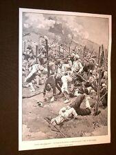 Guerra Russia vs Giappone nel 1904 Giapponesi tra i reticolati a Port Arthur