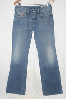 Diesel Womens Ronhar Boot Cut Distressed Stretch Denim Blue Jeans size 30 X 32