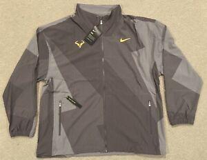 Nike Court Rafa Nadal Full Zip Tennis Jacket Thunder Grey Mens Sz XL AJ8257-082