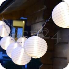 LED Lichterkette 7m mit 15 XXL Lampions warmweiss Partydeko