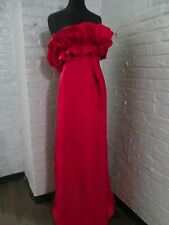 "Christian Dior strapless evening gown of ""American Beauty Rose color"